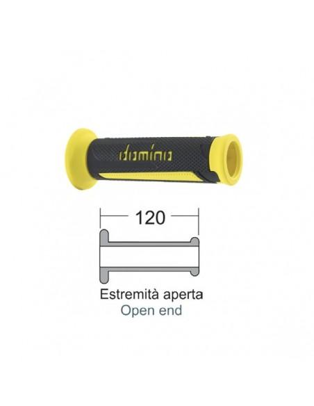 Coppia manopole Domino turismo colore Antracite/Giallo - 184170020