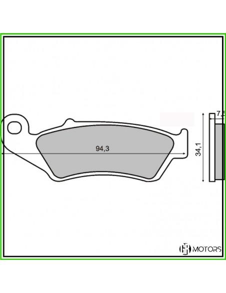 Pastiglie freno anteriore RMS Honda XL 600/650/700 V Transalp - 225100920