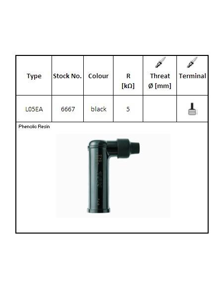 Attacco candela NGK L05EA res. 5 KΩ - NG6667