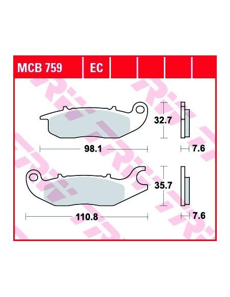 Pastiglie freno anteriore organiche TRW Honda CBR 125 R dal 2004 - MCB759LC